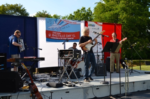 Frenchaxe band at the Indiana Bastille Day 2013