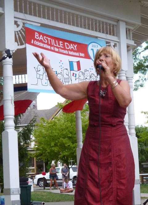 French singer Karen Vinci at Indiana Bastille Day 2012